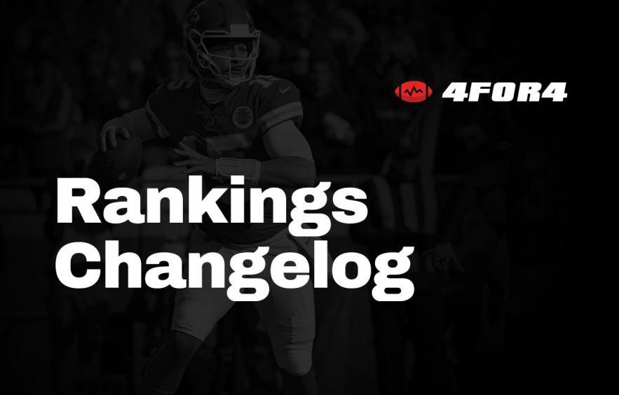 Rankings Changelog (2020)