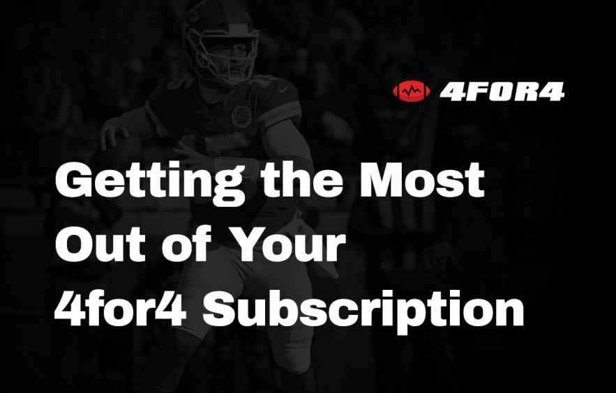 How to Get the Most Out of Your 4for4 Subscription