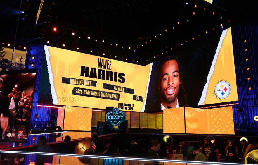 Najee Harris Landed in the Perfect Spot for Fantasy Goodness