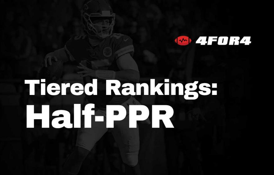 Tiered Rankings for Half-PPR Leagues
