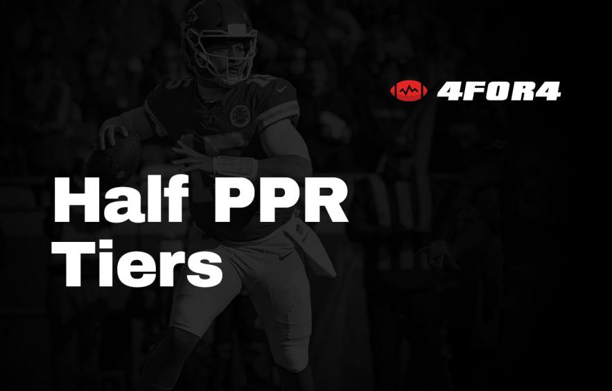 Tiered Rankings for Half PPR Leagues