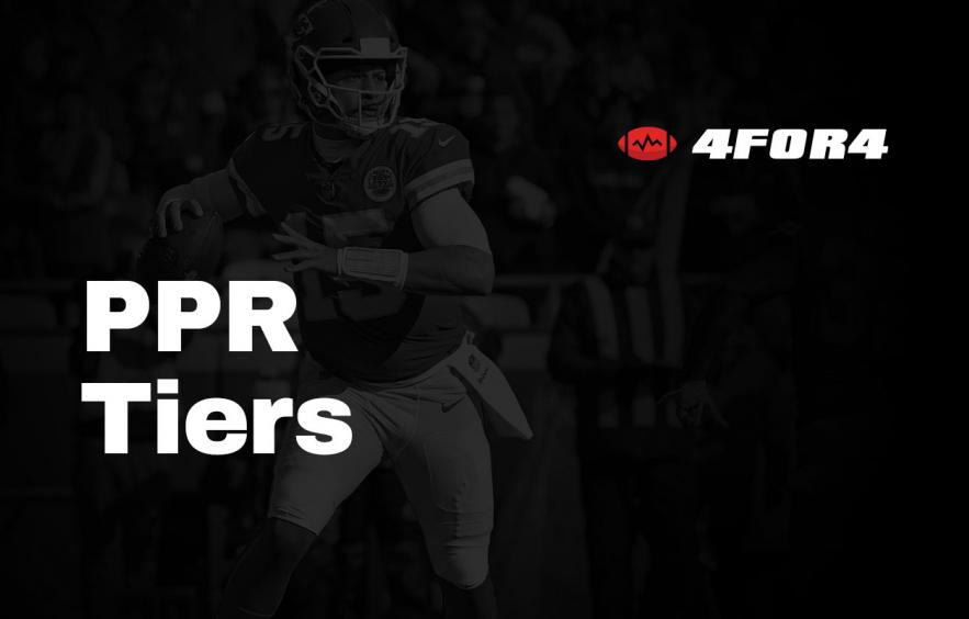 Tiered Rankings for PPR Leagues