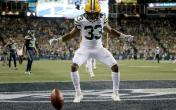 aaron jones end zone dance
