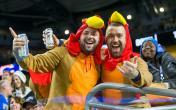 nfl fans thanksgiving turkey
